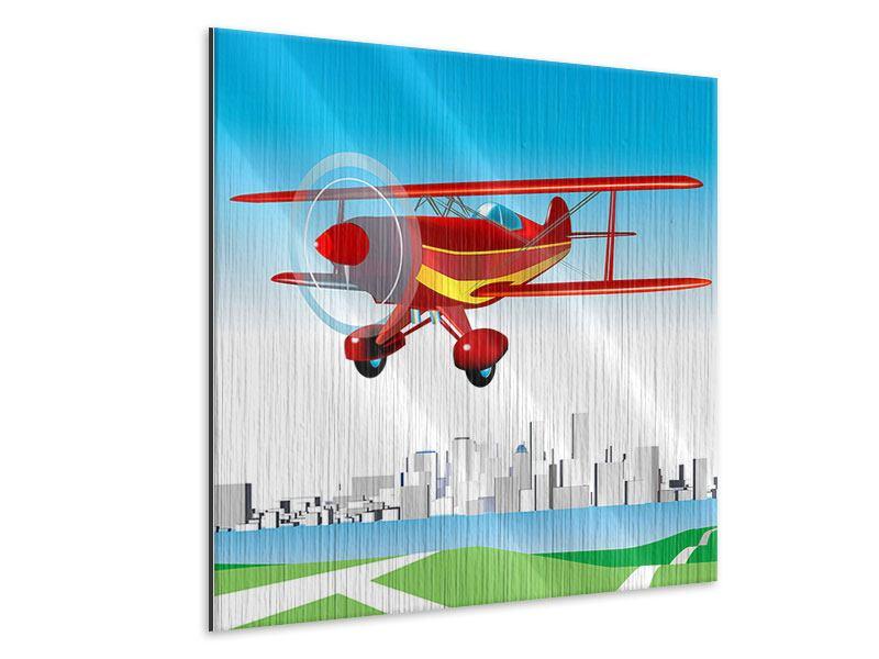Metallic-Bild Fliegendes Flugzeug