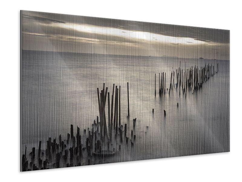 Metallic-Bild Das Meer und die Träne