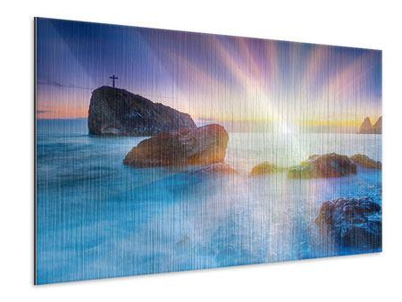 Metallic-Bild Mystisches Meer