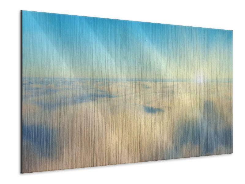 Metallic-Bild Dämmerung über den Wolken