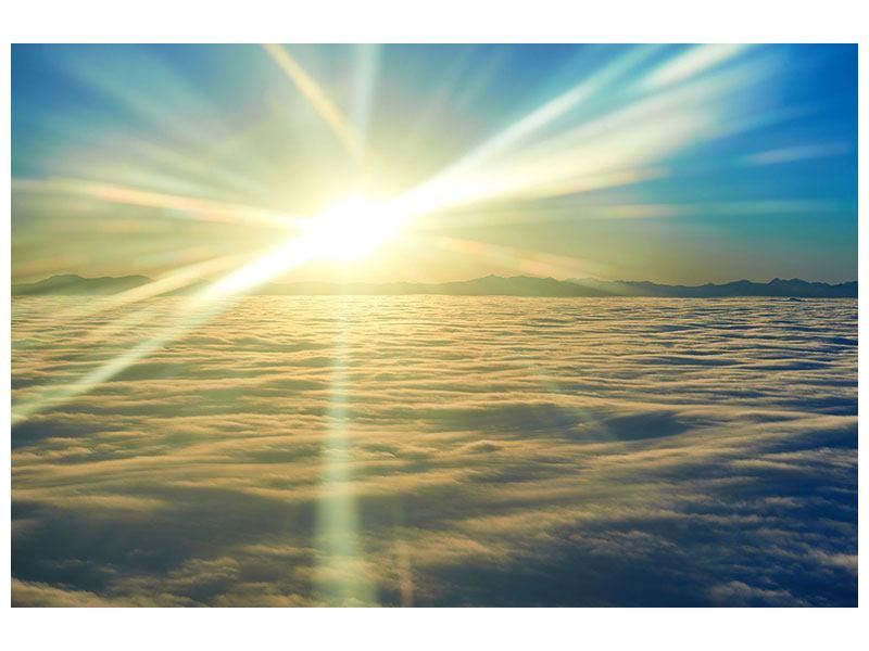 Metallic-Bild Sonnenaufgang über den Wolken