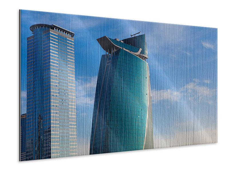 Metallic-Bild Zwei Wolkenkratzer