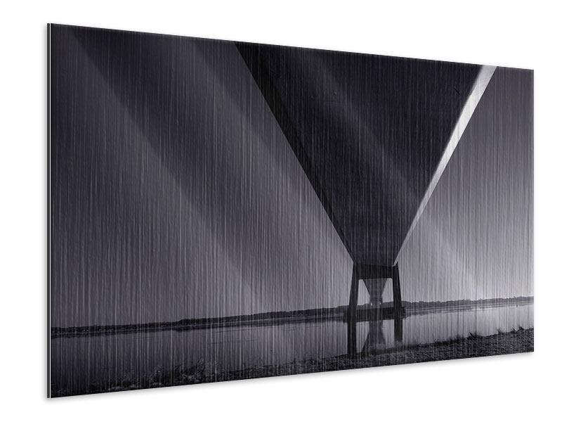 Metallic-Bild Die Brücke über tiefes Wasser