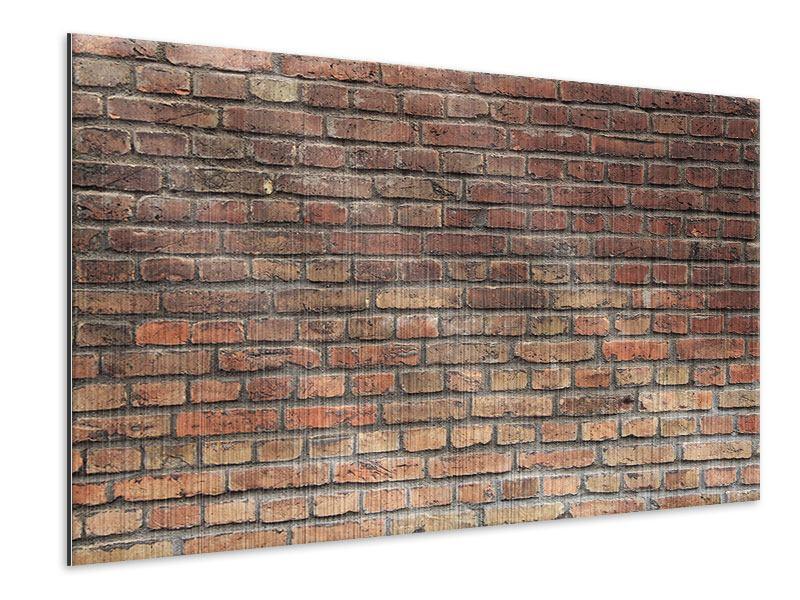 Metallic-Bild Brick Wall