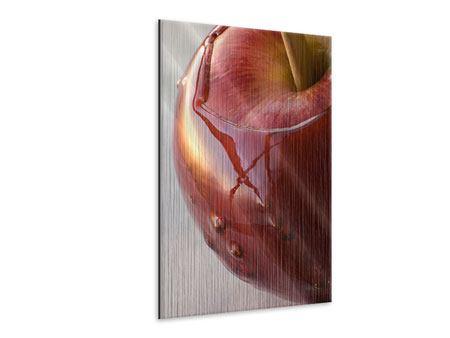 Metallic-Bild Apfel