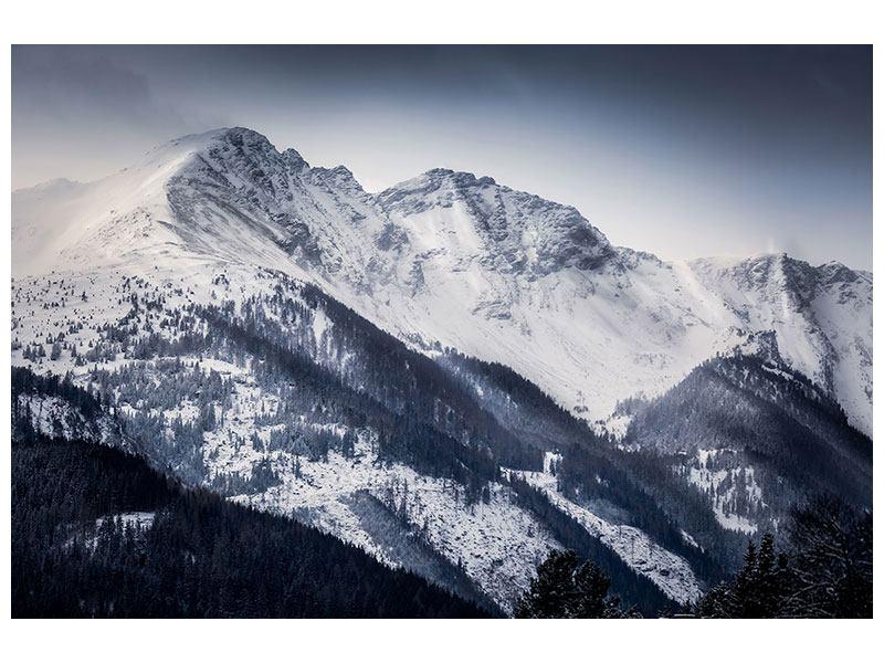Metallic-Bild Die Berge der Schweiz