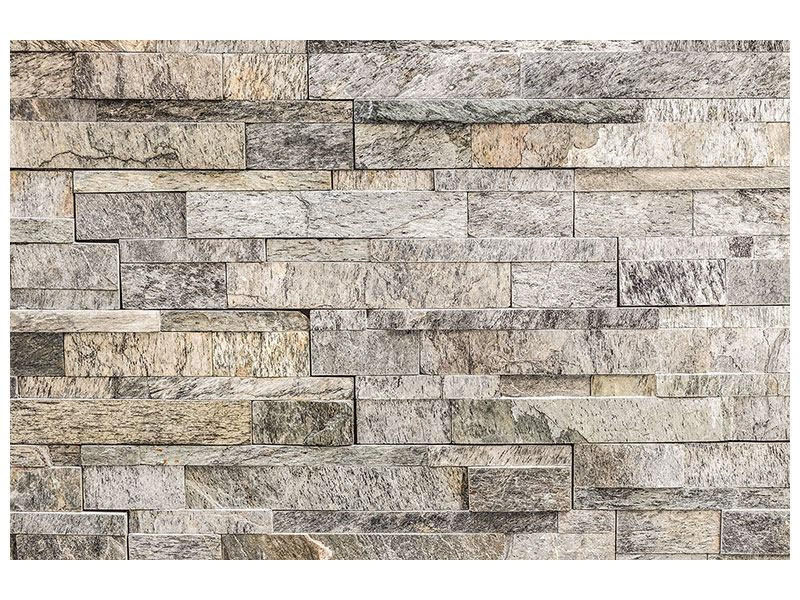 Metallic-Bild Elegante Steinmauer