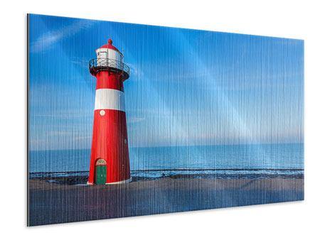 Metallic-Bild Sommer beim Leuchtturm