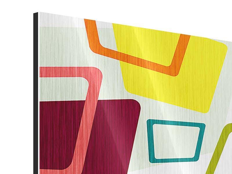 Metallic-Bild Rechtecke im Retrodesign