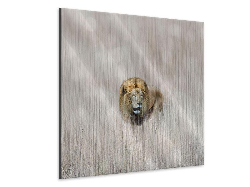Metallic-Bild Der Löwe