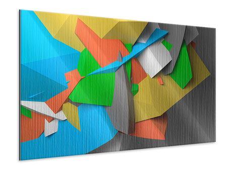 Metallic-Bild 3D-Geometrische Figuren