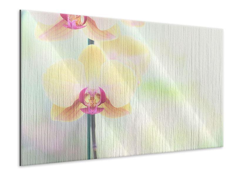 Metallic-Bild Lovely Orchidee