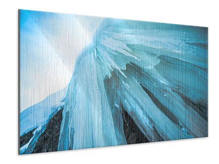 Metallic-Bild Die Eiswand