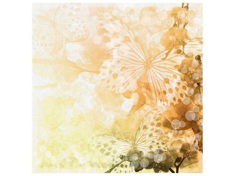 Metallic-Bild Romantische Schmetterlinge