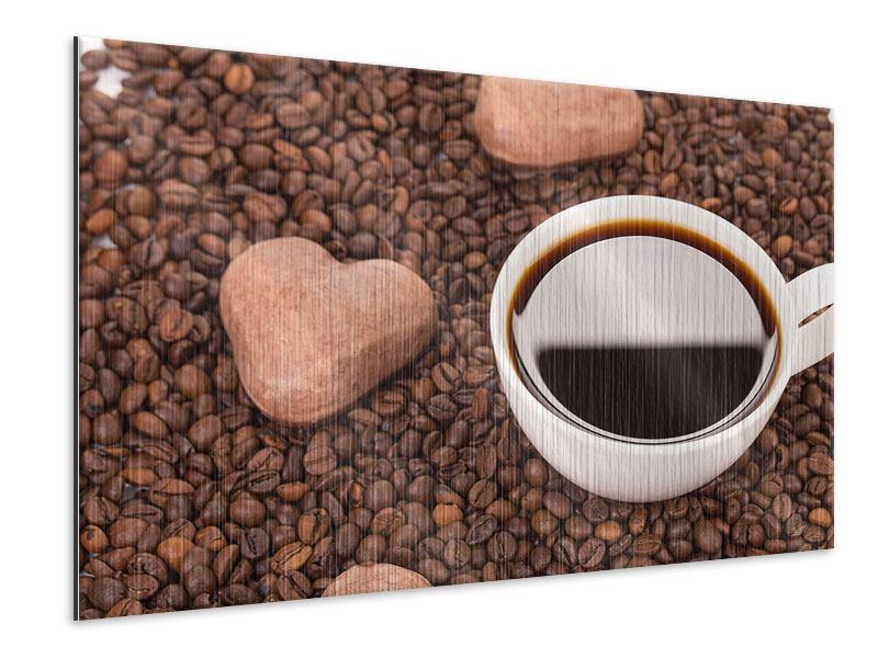 Metallic-Bild Pausenkaffee