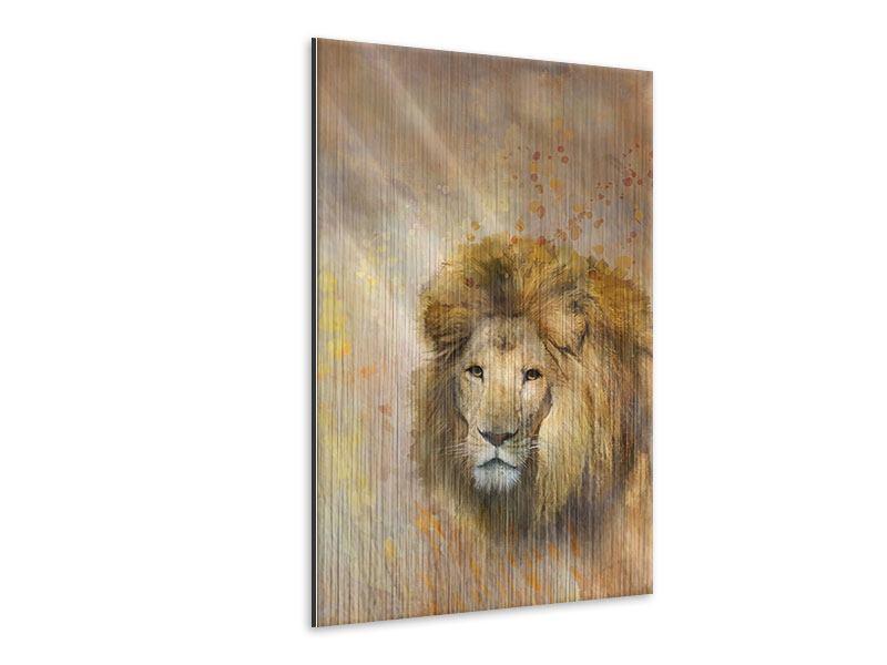 Metallic-Bild König der Löwen