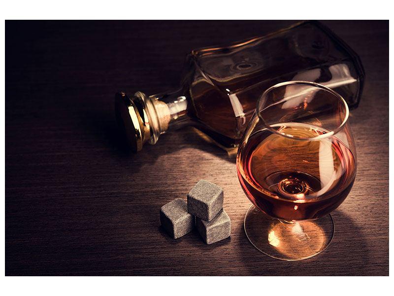 Metallic-Bild Ein Glas Cognac