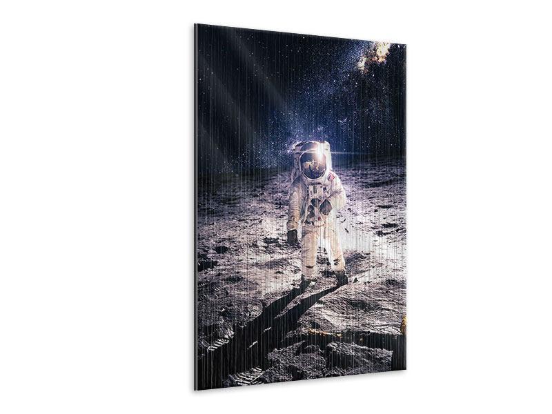 Metallic-Bild Der Astronaut