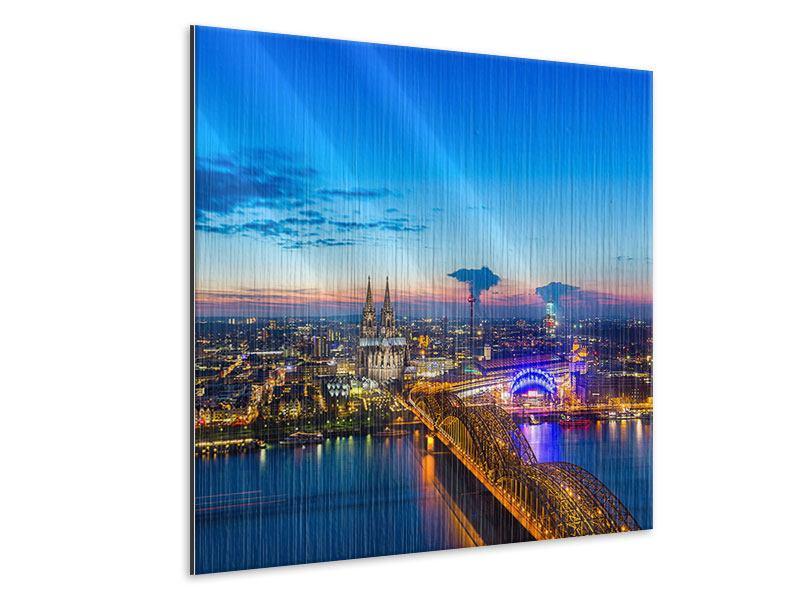 Metallic-Bild Skyline Ein Penthouse in Köln
