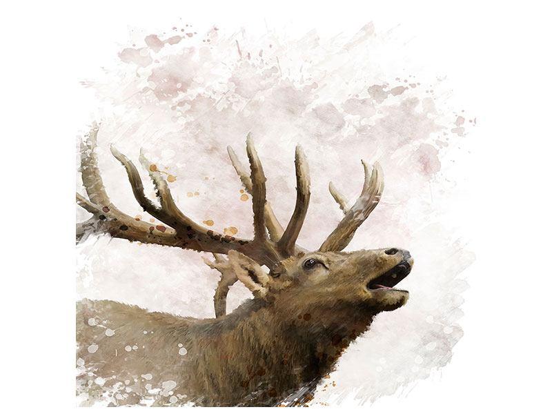 Metallic-Bild Elch-Gemälde