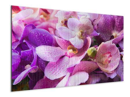 Metallic-Bild Im Orchideenparadies