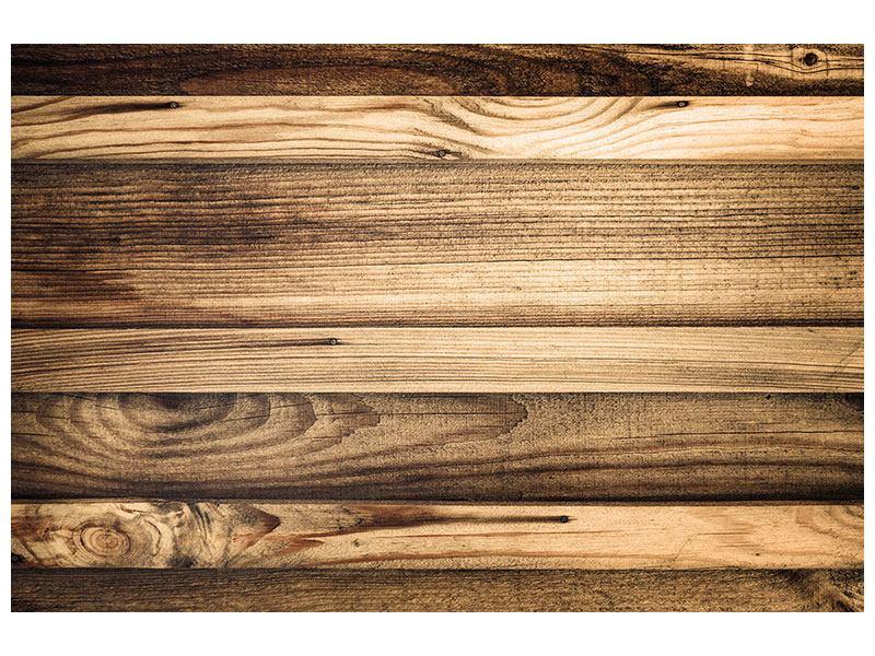 Metallic-Bild Holztrend