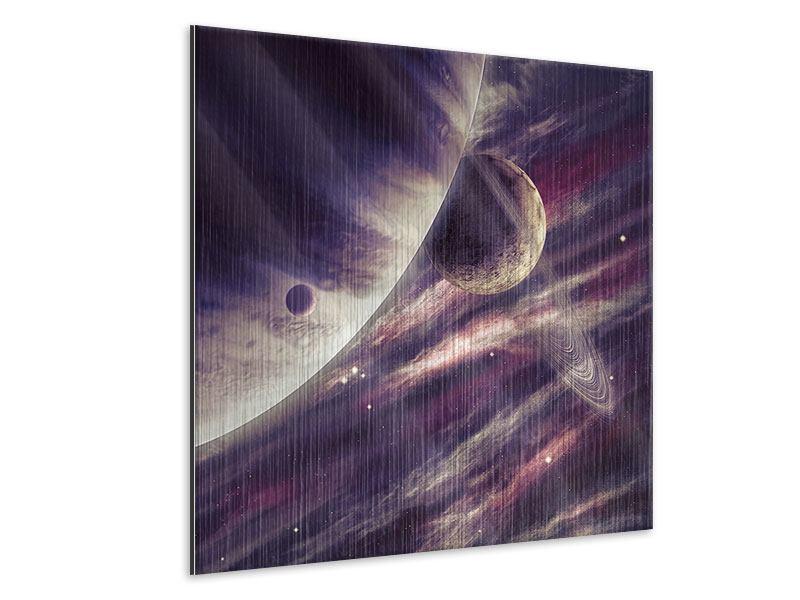 Metallic-Bild Weltraumreise