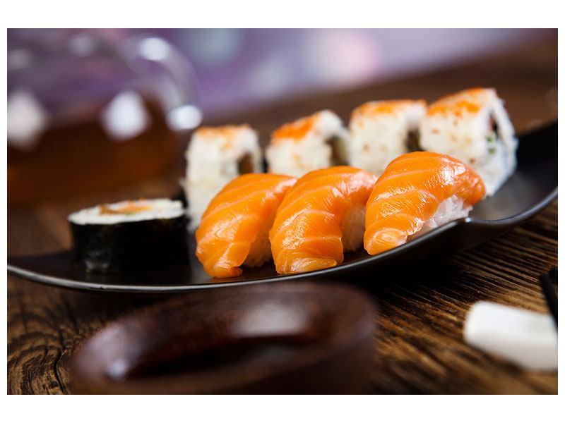Metallic-Bild Sushi-Gericht