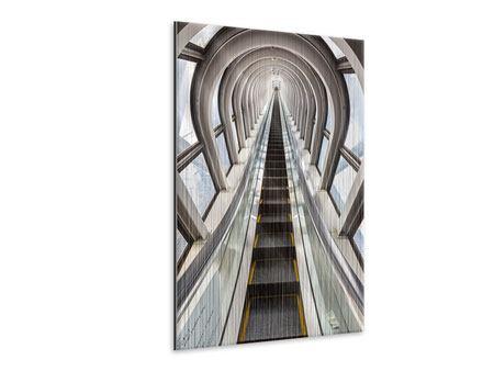 Metallic-Bild Futuristische Rolltreppe