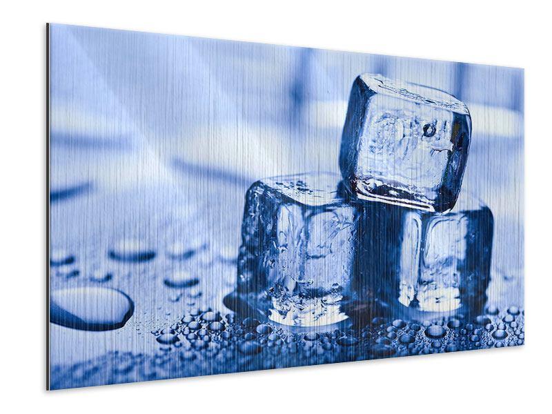 Metallic-Bild Eiswürfel