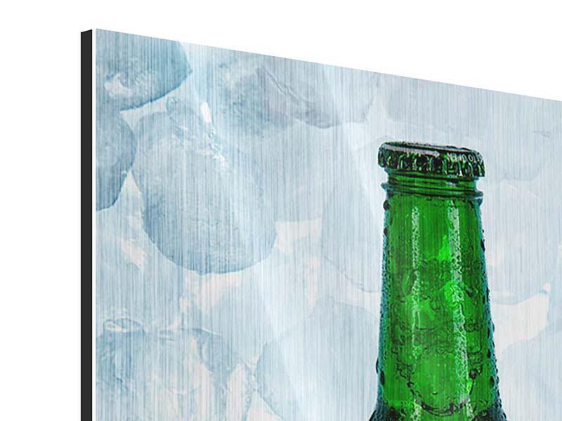 Metallic-Bild Eisgekühltes Bier