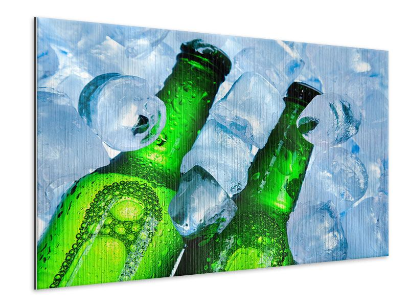 Metallic-Bild Eisflaschen