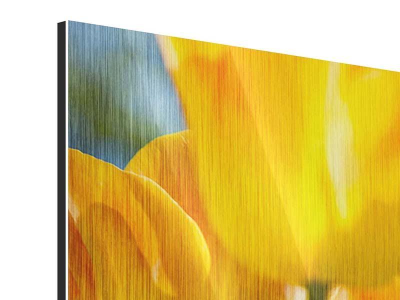 Metallic-Bild Im Tulpenbeet