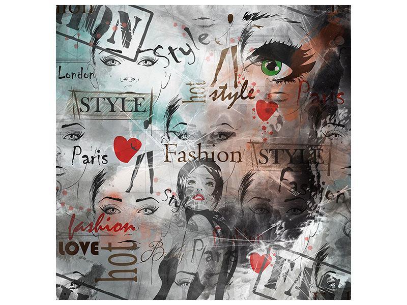 Metallic-Bild I Love Paris