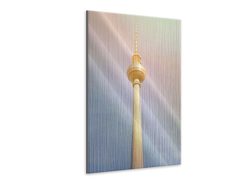Metallic-Bild Berliner Fernsehturm