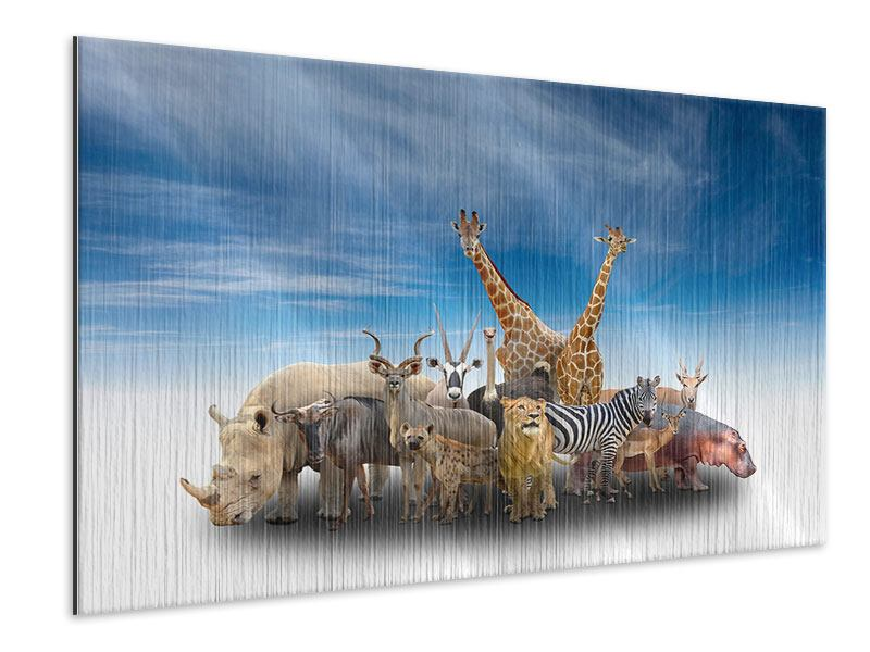 Metallic-Bild Der Zoo