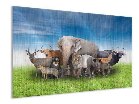 Metallic-Bild Warten auf die Arche Noah