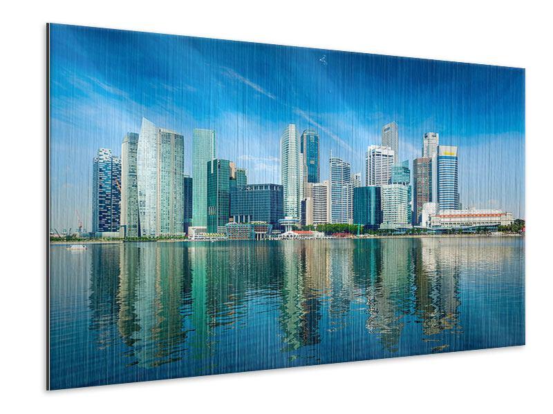 Metallic-Bild Skyline Mexiko-Stadt