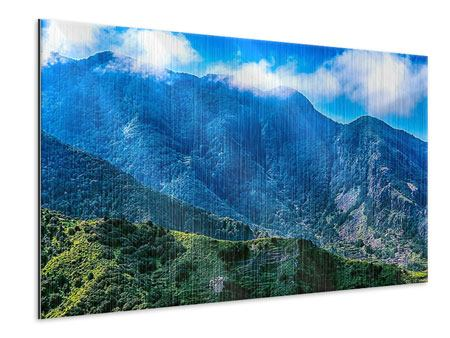 Metallic-Bild Die Berglandschaft
