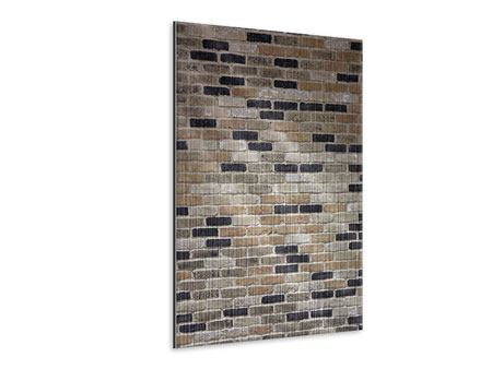 Metallic-Bild Backsteinmauer