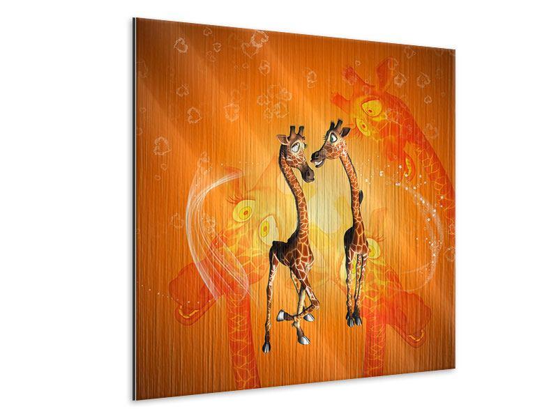 Metallic-Bild Giraffen Kinder