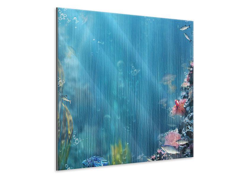 Metallic-Bild Unter Wasser