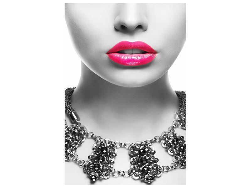 Metallic-Bild Rote Lippen