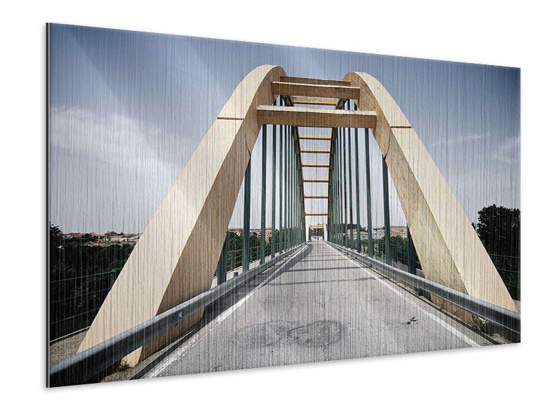 Metallic-Bild Imposante Hängebrücke