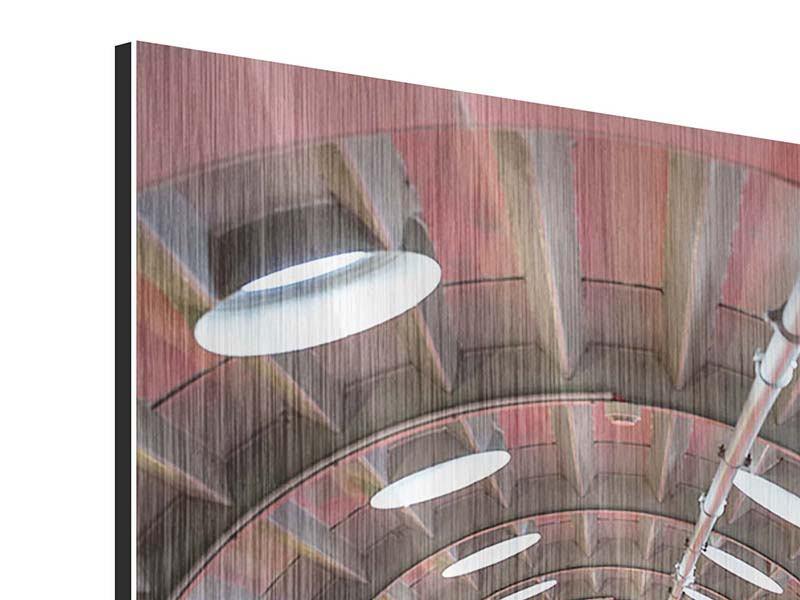 Metallic-Bild Futuristische Treppe
