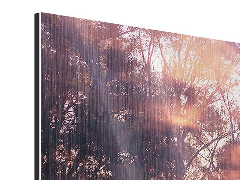 Metallic-Bild Die Waldspiegelung