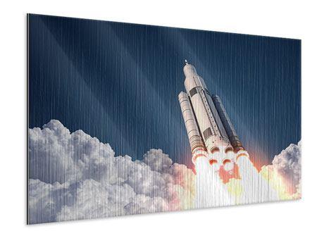 Metallic-Bild Raketenstart