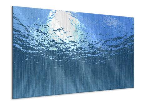 Metallic-Bild Sonnenstrahlen unter Wasser