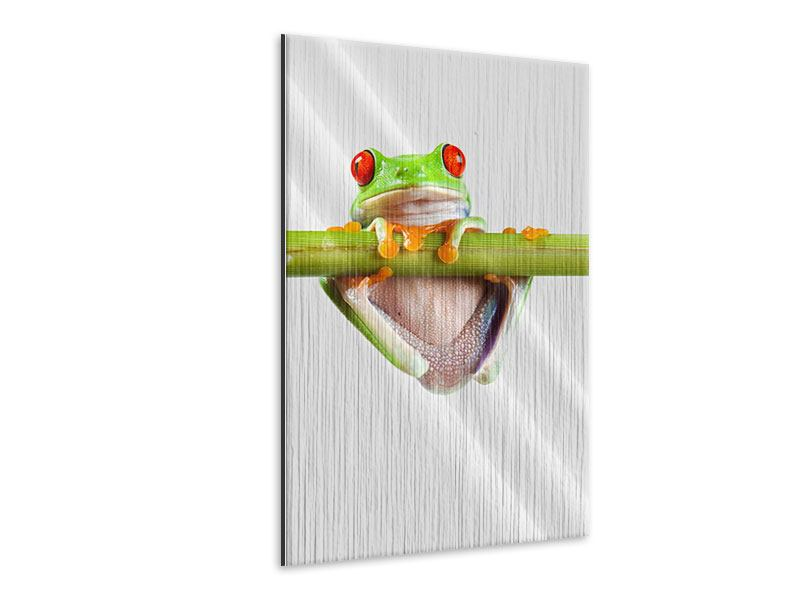 Metallic-Bild Frosch-Akrobatik