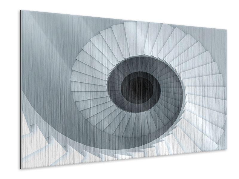 Metallic-Bild 3D Wendeltreppe